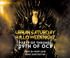 Urban Saturday Party of Thrones Halloween Night at Catch
